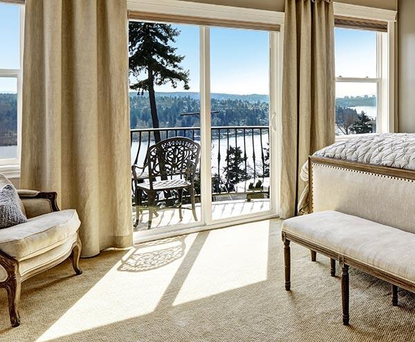 Beautiful-sliding-glass-exterior-door-installed
